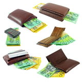 Money. Australian money in the wallets Royalty Free Stock Photography