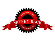 Money back 100% guarantee Royalty Free Stock Photos