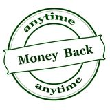 Money back anytime. Rubber stamp with text money back anytime inside, illustration royalty free illustration