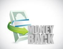 Money back bills illustration design Royalty Free Stock Image