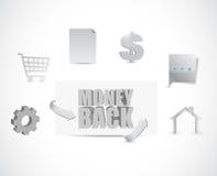 Money back business icons illustration Stock Images