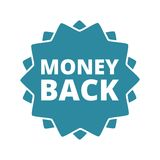 Money Back button sign icon. Vector icon Royalty Free Stock Image