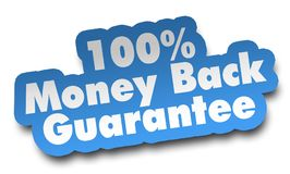 Money back concept 3d illustration isolated. On white background Stock Photography