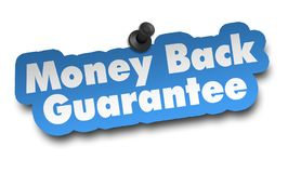 Money back concept 3d illustration isolated. On white background Royalty Free Stock Images