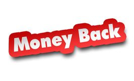 Money back concept 3d illustration isolated. On white background Stock Images
