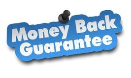Money back concept 3d illustration isolated. On white background Stock Photos