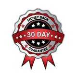 Money Back In 30 Days Guarantee Medal Isolated Template Seal Icon. Vector Illustration Royalty Free Stock Photos