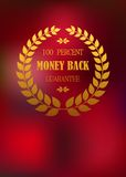 Money back emblem in wreath Royalty Free Stock Photography