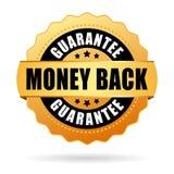 Money back gold icon Stock Photo