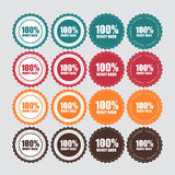 100% Money Back Golden Label  Vector Illustration Royalty Free Stock Photography