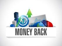 Money back graphs illustration design Royalty Free Stock Image