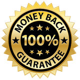 Money Back Guarantee. A vector illustration of a gold money back guarantee seal / label. Available in EPS stock illustration