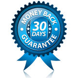 Money back guarantee. Blue vector 30 days money back guarantee vector illustration