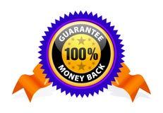 Money back guarantee. On white royalty free illustration