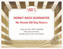 Money back guarantee Royalty Free Stock Image