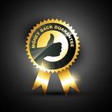 Money back guarantee. Golden style money back guarantee vector label Royalty Free Stock Photography