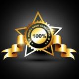 Money back guarantee. Stylish golden money back guarantee label sign Stock Photo