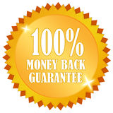 Money back guarantee. Emblem over white Stock Photo
