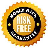 Money back guarantee. Money back risk free guarantee seal Royalty Free Stock Photography