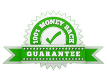 Money Back Guarantee. Render of Money Back Guarantee sign, isolated on white royalty free illustration