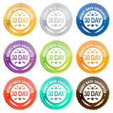 Money back guarantee 30 day. Isolated over white Royalty Free Stock Photo