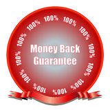 Money Back Guarantee. D with seal of approval. Fully scalable vector illustration Stock Image