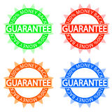 Money back guarantee badge. Vector illustration of 4 colore money back guarantee badges vector illustration