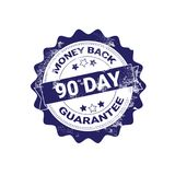 Money Back Guarantee Badge Blue Grunge Sticker Or Stamp Template Isolated. Vector Illustration Stock Images