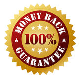 Money back guarantee badge concept 3d illustration Stock Photos