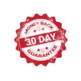 Money Back Guarantee Badge Red Grunge Sticker Or Stamp Template Isolated. Vector Illustration royalty free illustration
