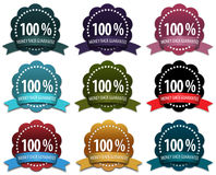 9 Money-back guarantee badges Royalty Free Stock Images