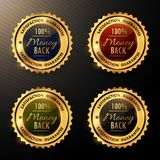 Money back guarantee badges set collection. Vector Royalty Free Illustration