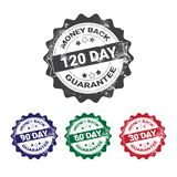 Money Back Guarantee Badges Set Colorful Grunge Sticker Or Stamp Template Isolated. Vector Illustration vector illustration