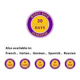 Money back guarantee. Badges for use in web sites design Royalty Free Illustration