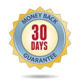 Money back guarantee. 30 Days Money back guarantee badge Royalty Free Stock Photo