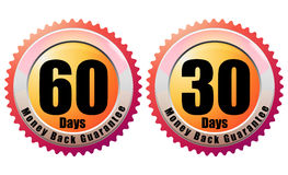 Money Back Guarantee 60 Days - Illustration. Money Back Guarantee with 30 and 60 Days - Illustration Royalty Free Stock Image
