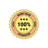 Money Back Guarantee Element Badge Or Label Isolated Business Seal. Vector Illustration Stock Photo