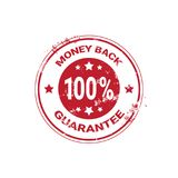 Money Back Guarantee Grunge Red Sticker Or Stamp Template Isolated. Vector Illustration Stock Photography