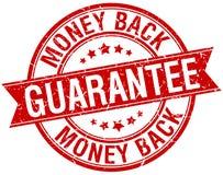 Money back guarantee grunge retro red ribbon stamp Stock Image