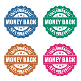Money back guarantee icon. S on white background royalty free illustration