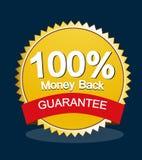 Money back guarantee stock image