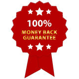 Money back guarantee. An illustration of a label with 100% Money Back Guarantee Stock Image