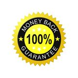 Money back guarantee label. 100% money back guarantee label. Vector available stock illustration