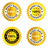 Money back guarantee. Label on white background royalty free illustration