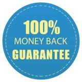 100% MONEY BACK GUARANTEE BLUE COLOR ILLUSTRATION WEB ICON DESIGN. 100% MONEY BACK GUARANTEE LABEL YELLOW BLUE COLOR ILLUSTRATION ICON DESIGN stock illustration