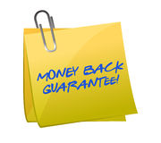 Money back guarantee post it Stock Photography