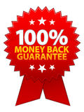 Money Back Guarantee Ribbon / EPS. A vector illustration of a glossy red money back guarantee seal /ribbon. Available in EPS vector illustration