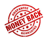 Money back guarantee rubber stamp illustration Stock Images