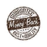 Money back guarantee stamp. Brown grunge rubber stamp with the text money back guarantee written inside the stamp Stock Images
