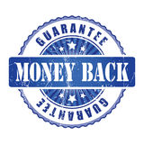 Money Back   Guarantee Stamp with stars. Royalty Free Stock Images